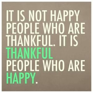 People who are grateful feel more joy.